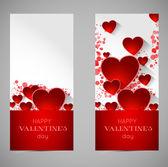 Abstrakte Valentin Banner mit Herz — Stockvektor