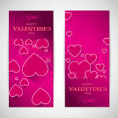 Abstract valentine banners with heart — Stockvector