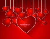 Abstract valentine background with heart — Vector de stock
