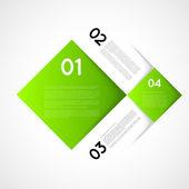 Infographic template squares — 图库矢量图片