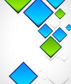 Abstracte achtergrond met vierkanten — Stockvector