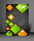 Modern poster design template — Stockvector