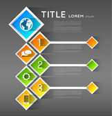 Infographic template banners, squares — Stock Vector