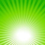 Green background, sun rays — Stock Vector #44946365