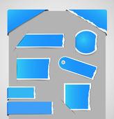 Roztrhané papírové štítky — Stock vektor