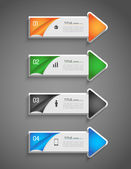 Infographic colorful direction arrows — Stock Vector