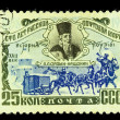 USSR - CIRCA 1958: A stamp printed in the USSR (Russia) shows th — Stock Photo