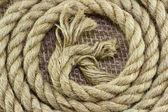 黄麻绳子 — 图库照片