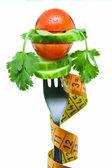 Gemüse auf einer gabel — Stockfoto