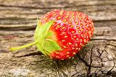 Strawberry on a blackboard — Stock Photo