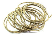 A coil of rope on a white background — Stock Photo