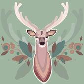 Background with deer — Stock Vector