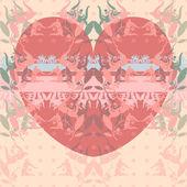 Happy valentine hart pattern — Stock Vector