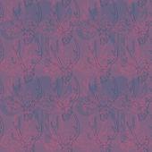花と鹿頭蓋骨パターン. — ストックベクタ