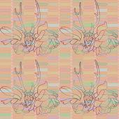 Modèle avec fleurs et un crâne de cerf. — Vecteur