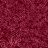 Abstract Elegance Seamless pattern with floral background — Vecteur