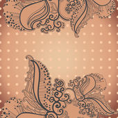 Vector card with abstract hand drawn decor element. — Vector de stock