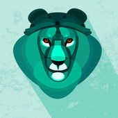 Lion head abstract on  backgrounds, vector illustration — Stock Vector