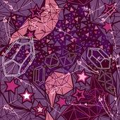 Retro geometric  pattern on dark background. — Vettoriale Stock