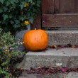 Halloween pumpkin decoration — Stock Photo
