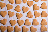 Gingerbread hearts isolated on white background — Foto Stock