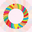 Vector round colorful background — Stock Vector
