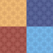Set - vector geometric seamless patterns — Stockvektor
