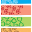 Bright color backgrounds with geometric decor - vector — Stock Vector #43253681