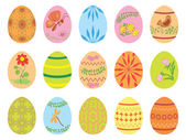 Velikonoční vejce s ornamenty - vektor — Stock vektor