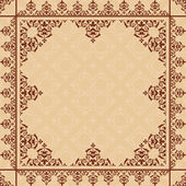 Arabic ornament on light beige pattern - vector  — ストックベクタ