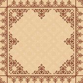 Ornamento del árabe en el patrón de amarillento ligero - vector — Vector de stock