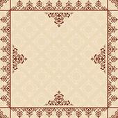 Beige background with victorian ornament - vector — Vecteur