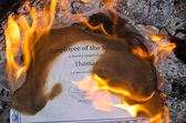 Burning Employee of the Month Certificate — Photo