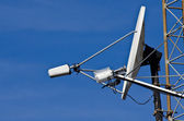 Satellite Dish on Communications Tower — Stock Photo