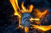 Burning Jokers — Stock Photo