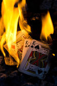 Burning Kings — Stock Photo