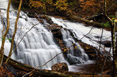 Waterfall Deep in the Autumn Forest — 图库照片