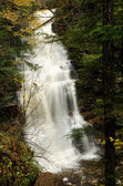 Waterfall Deep in the Autumn Forest — Stockfoto