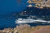 Pleasure Boat Sailing Through Canyon — Stock Photo