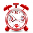 illustratie voor cartoon alarm clock — Stockvector