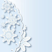 Composition from snowflakes — Stock Vector