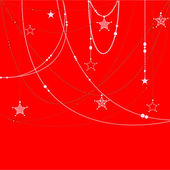 Christmas beads on a red background — Vecteur
