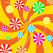 Stock Vector: Background lollipop