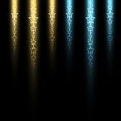 Luminous stellar line — Vettoriale Stock