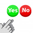 Click on  button Yes or No — Stock Vector