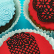 Detail of delicious handmade cupcakes — Stock Photo