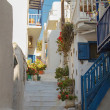 Street in Mykonos, Greece — Stock fotografie