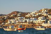 Sunset in Mykonos, Greece. — Foto de Stock