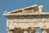 Detail of Parthenon on the Acropolis in Athens, Greece — Stock fotografie