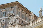 Papa'nın ofisi, aziz petrus bazilikası, vatikan görüntüleme — Stok fotoğraf